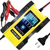 YDBAO Caricabatteria Auto di Carica 12V/24V 6A Intelligente Carica Batterie per Auto Moto Automatico Caricatore con…