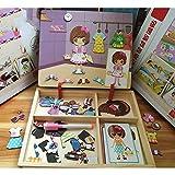 Juguetes para niños Rompecabezas magnético de madera 1-6 años de edad Niños y niñas Educación temprana Regalo de cumpleaños Bebé Juguetes educativos Tablero de pintura multiusos ( Tamaño : B )