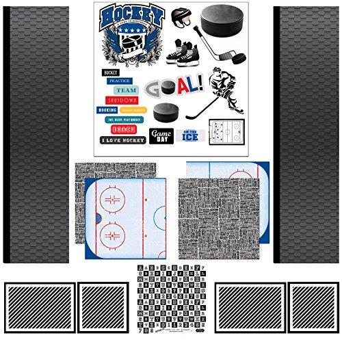Scrapbook Customs Scrapbook Kit Hockey Sport Papier