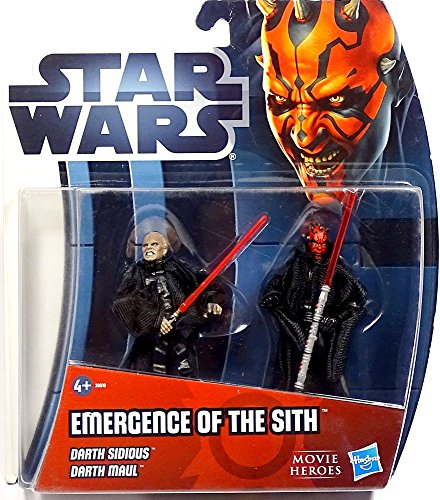 Emergence of the Sith Darth Sidious & Darth Maul im Set - Star Wars Movie Heroes von Hasbro