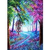 DIY 5D Diamond Painting, wuayi Tree-Lined Road Full Drill 5D Diamond Painting Crystal Embroidery Rhinestone Pasted Pictures Cross Stitch Kit for Home Wall Decor