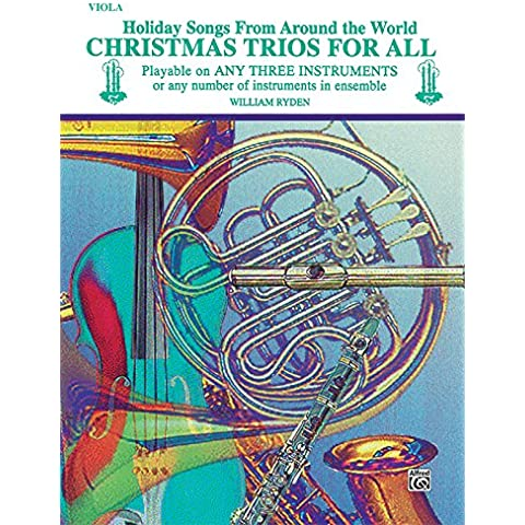 Christmas Trios for All (Holiday Songs from Around the World): Viola