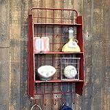 ZWL Retro industrielle Retro Eisen Regal Regal Rack Wand - montiert Eisenrahmen Fashion. z ( Farbe : Rot )