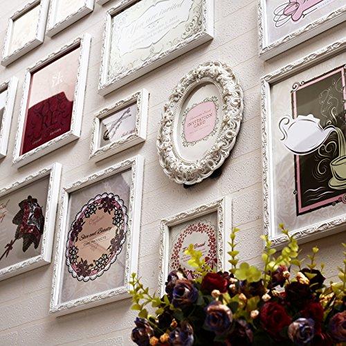X&L Wand Foto Foto Wand Rahmen Wand unregelmäßig europäischen solide Holz Wohnzimmer Schlafzimmer kreative Portfolio Fotowand , 15 boxes of all white - 2