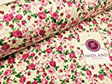 Vintage floral Rose Print 100% Baumwolle Stoff 111,8cm