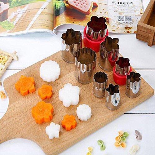 �seschneider Zerkleinerer 4 Sätze von 8 Shape Set DIY Biscuit Cutter Blume Kinder Form Essen Obst Cutter Mold ()