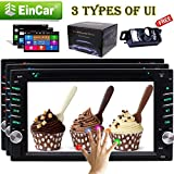 "Car Audio Double 2 Din Stereo-Radio Multimedia Head Unit mit 3 UI optional- Touchscreen, Bluetooth, DVD / CD, USB / SD, AM / FM, MP3, 6,95"" LCD-Monitor, drahtlose Fern, Multi-Color Illumination, kostenlose Backup-Kamera"