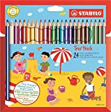 STABILO 203/24-01 Trio Thick Colouring Pencil - Assorted Colours, Wallet of 24