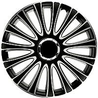 Satz Radzierblenden LeMans 17-Zoll Schwarz/Silber