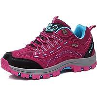 REBEST Hiking Boots Women Mountain Trekking Shoes Lace-up Waterproof Non-Slip Men's Trekking Hiking Footwear
