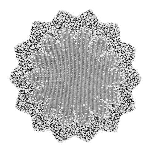 Heritage Lace Blossom 42-Inch Round Table Topper, White by Heritage Lace (White Table Topper)