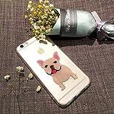 Sleeping Bear)Case Cover per Apple iPhone 7/8,Adorabile Animale Cane/Dog del Fumetto(Bulldog Francese) del Telefono della Copertura della Caso Sottile TPU Custodia+Cordoncino-French Bulldog