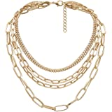 Yellow Chimes Fashion Gold Plated Multilayered Chain Choker Necklace for Women and Girls