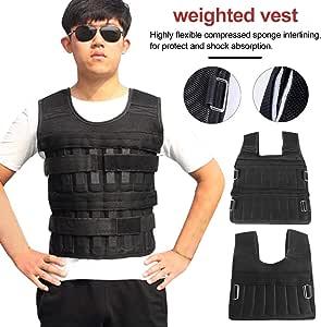 Urstory1 Gewichtsweste atmungsaktiv Fitness sto/ßfest mit mehreren Taschen f/ür Laufen Gewichtheben 5 kg//15 kg//35 kg verstellbare Gewichtsjacke zum Laufen