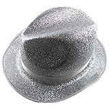 Fiesta Palace - chapeau gangster en pvc à paillettes argent