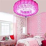 GYUH Rosa Led bunte Kinderzimmer Wandleuchte Bett Schlafzimmer Wohnzimmer Flur modernen minimalistischen Kreative Flurbeleuchtung Tri-Color Dimmen + LED-bunten Patch + Fernbedienung Rosa,