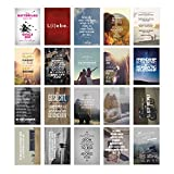20er Postkarten Set LIEBE mit Sprüchen von VISUAL STATEMENTS® / Verschiedene Varianten / 20 verschiedene hochwertige Spruchkarten / 350g Bilderdruckkarton / 12 x 17,5 cm / XXL Format / Hochzeit / Liebe #1