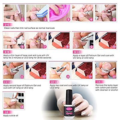 CLAVUZ 6pcs Starry Gel Nail Polish Color Collection Set Soak Off Super Bling Gel Nail Lacquer Glitter Galaxy Nail Art Manicure 8ml New Starter Gift Kit