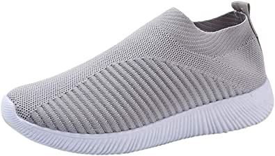 Solike Chaussures Femme Fille de Sport Chaussettes Chaussures Anti-dérapage Running Basket Mode Fitness Gym Respirants Sneakers de Plein Air 35-43