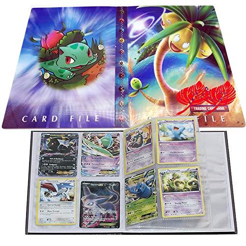 UHIPPO Pokemon Karten Album, Pokemon Karten Halter, Pokemon Ordner für Karten Album Buch Bester Schutz für Pokemon Sammel Karten GX EX Box(Bulbasaur)