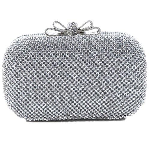 Perlen Pailletten-abend-geldbeutel (Heyjewels Elegant Party Clutch Umhängetasche herrlich Abendtasche Handtasche mit Pailletten und Tragekette Hochzeit)