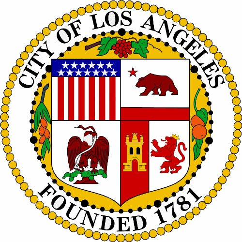 Leichter Los Angeles (8 cm - Konturschnitt - Autoaufkleber Los Angeles USA Sticker Aufkleber fürs Auto Motorrad Handy Laptop)