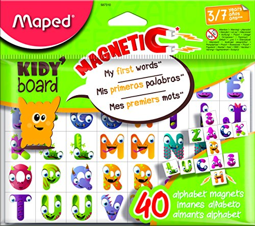 Maped m587310 – Imanes Fancy ABC, 40 LETRAS para Kidy 'board