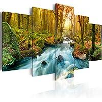 murando - Cuadro en Lienzo 200x100 cm - Impresion en calidad fotografica - Cuadro en lienzo tejido-no tejido - Naturaleza cascada c-A-0004-b-a