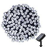 easyDecor Luci di stringa solare, (200 LED 22m) Impermeabile Luci fatate per Natale Leggero All'aperto, Giardino, patio, giardino, casa, alberi, feste, diserbo, decorazioni di festa (bianca)