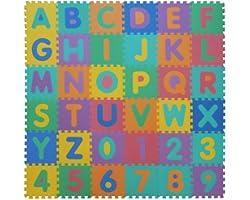 VeloVendo® - Tappeto Puzzle con Certificato CE e Testato TÜV Rheinland in soffice Schiuma Eva | Tappeto da Gioco per Bambini