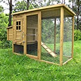 Pets Imperial® Wentworth Large Chicken Coop Hen Ark House Poultry Run Nest Box Rabbit Hutch Suitable For Up To 4 Birds – Integrated Run & Cleaning Tray & Innovative Locking Mechanism