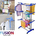 3 LAYER CLOTH HANGER FOLDING STAND TOWEL HANGING DRYER RACK HOLDING AIRER