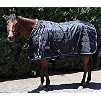 Barnsby Equestrian Horse Stable Rug-420D Oxford 100g Filling - Black