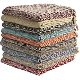 Large Cotton Zig-Zag Sofa Throws Single Bed Throw Arm Chair Covers 125 x 150cms ( Colour sent on Random Basis) by EHC