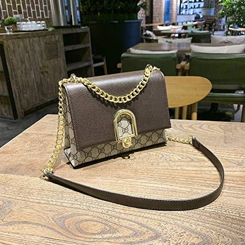 etter Print Contrast Lock Buckle Tasche Square Shoulder Messenger Bag, Kaffeefarbe ()
