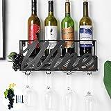 Tinyuet Wandgemonteerd Wijnrek - Duurzaam Praktisch Solide en Envoudige Installatie Wijnhouder - Elegante Opbergglashouder Vo