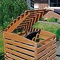 Promadino Vario III Mülltonnenbox für 1 Tonne, braun von Promadino bei Du und dein Garten