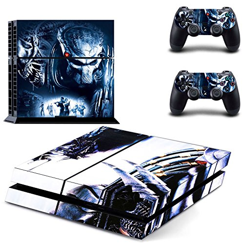 Playstation-4-2-Controller-Aufkleber-Schutzfolie-Set-Alien-vs-Predator-PS4
