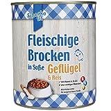 Fleischige Brocken in Soße Geflügel und Reis 6x 800g nur 4,5% Fett Nassfutter geeignet für alle ausgewachsenen Hunde eine solide, gute Qualität Sie enthalten alles, was der Hundekörper benötigt