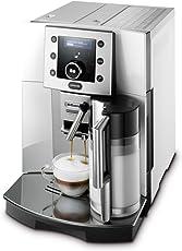 DeLonghi Perfecta ESAM 5500.S/M Kaffeevollautomat (1350 W, 1,8 l, Digitaldisplay, integriertes Milchsystem, Kegelmahlwerk 13 Stufen, Herausnehmbare Brühgruppe, 2-Tassen-Funktion) silber