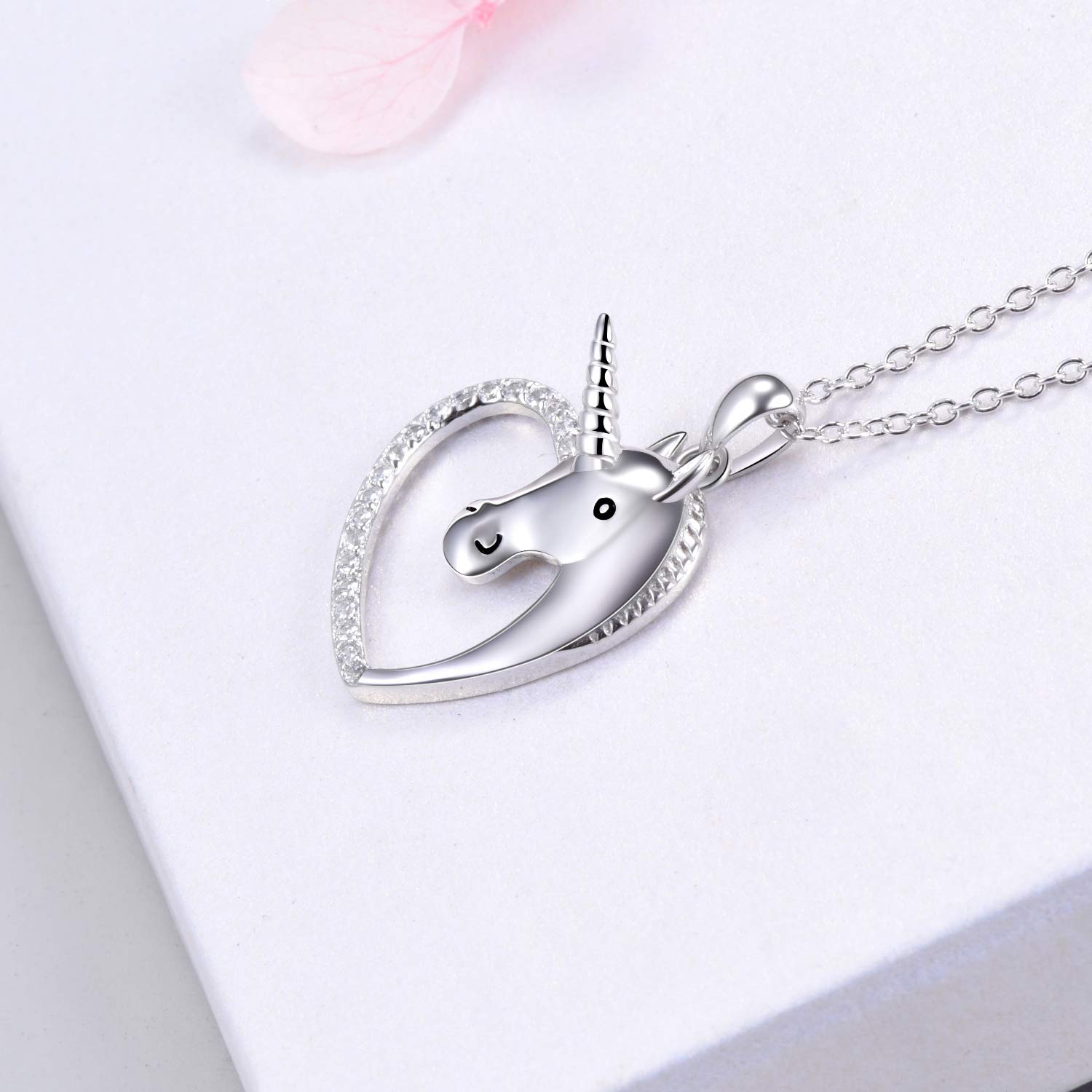 925-Sterling-Silver-Unicorn-Necklace-Pendant-locket-chain-Cute-Charm-Unicorn-Gifts-for-Niece-Little-Girls-Kids-and-Women-Unicorns-Fashion-Heart-Shaped-Ladies-Jewellery-Necklaces-Comes-In-Gift-Box