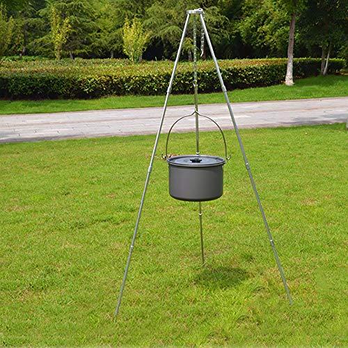 WhalePrime Camping-Stativ für Picknick, Kochen, mit Aufbewahrungstasche, 12 Stück