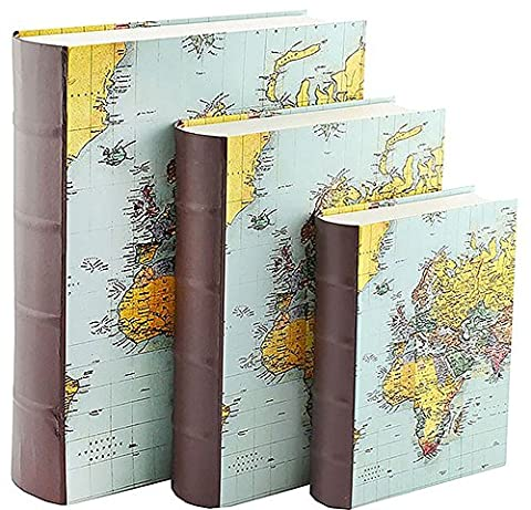 World Traveller Karten Nest von Reise Bücher Boxen (Set von 3)
