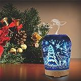 Diffuseur d'Huile Essentielle,GLISTENY Imagine 3D ELK 100ML Ultrasonique Brume Humidifier d'Arômes , Choix Multi-couleur ,pour Maison, Charbre,Noël,Fête, Enfant,SPA, Bureau(avec FR Prise)