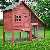 """ZooPrimus Kleintier-Stall Nr 11 Kaninchen-Käfig """"BAUERNHAUS"""" Meerschweinchen-Haus für Außenbereich (Geeignet für Kleintiere: Hasen, Kaninchen, Meerschweinchen usw.)"""