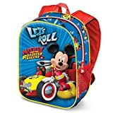 Karactermania Mickey Mouse Racers-3D Backpack (Small) Kinder-Rucksack, 31 cm, 8.5 liters, Blau (Blue)
