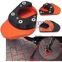 BJ Global NC Aluminum Motorcycle Side Kickstand Stand Extension Plate For KTM DUKE 125/200/390 4 Color (Orange)