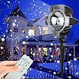 TOFU Projektionslampe led Star Lampe Projektor mit Fernbedienung Shower Schneeflocke Stmmungsbeleuchtung Weihnachtsbeleuchtung Dekoration für Halloween Weihnachten Party Festival Innen Außen