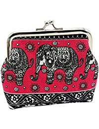 LQZ Ethnic Style Cute Animal Prints Canvas Money Wallet Pouch For Women Girl