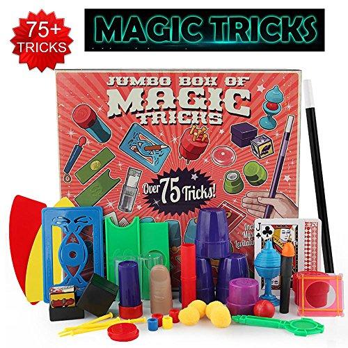 Kobwa trucchi di magia set con oltre 75trucchi, 17pezzi emozionante mago trucchi di magia, facile strumenti per bambini e principianti di tutte le età, idea regalo di compleanno